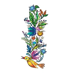 Ukrainian ethnic floral ornament vector