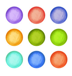 Watercolor paint circles vector
