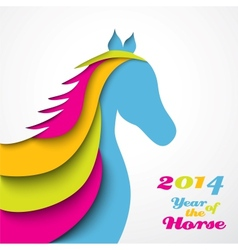 Year of the horse christmas vector