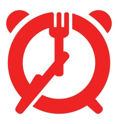 Dinner time sign vector image