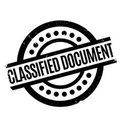 Classified document rubber stamp vector