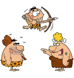 Caveman Family Collection vector image
