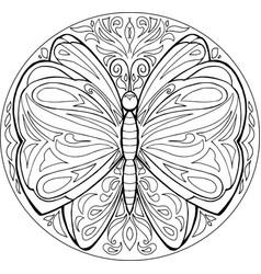 mandala butterfly vector image