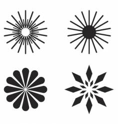 Radial design elements vector