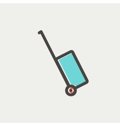 Luggage carrier thin line icon vector