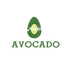 Icon avocado fruit food vector