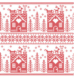 Scandinavian nordic christmas pattern vector