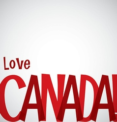 Typographic canada day card in format vector