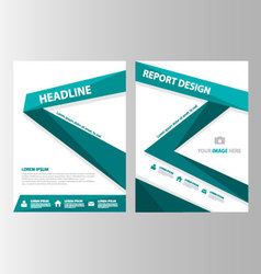 Green label annual report brochure flyer leaflet vector