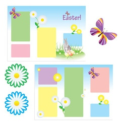 Tri-folder template for spring vector