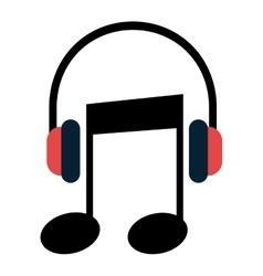 Music and technology symbol design vector