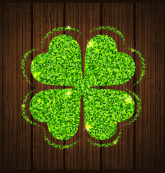 Abstract clover leaf vector