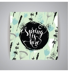 Artistic creative hand drawn spring design vector