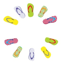 beautiful beach slippers isolated vector image