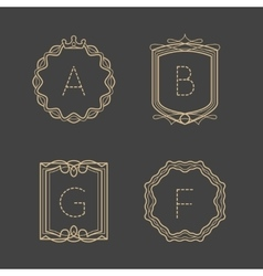 Calligraphic vintage monograms vector image vector image