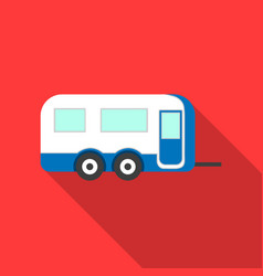 Caravan icon of for web and vector