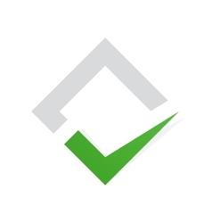 check mark logo Ok logo template icon Yes vector image