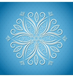 Christmas background with snowflake vector image