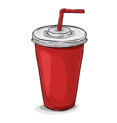 Cola cup color picture vector