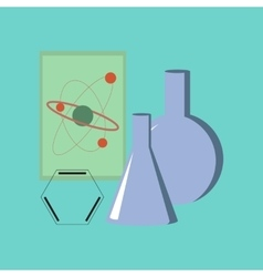 flat icon on stylish background chemistry lesson vector image