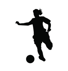 Girl Soccer player vector image