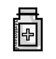 grayscale ointment medical cream to treatment vector image