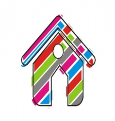 home icon vector image vector image
