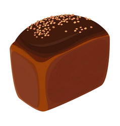 Loaf of brick bread realistic style isolated vector