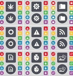 Marijuana Gear Folder Gear Warning RSS Diagram vector image vector image