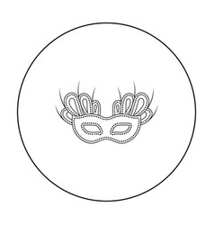 Mask icon in outline style isolated on white vector