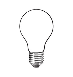 matted opaque tungsten light bulb side view vector image
