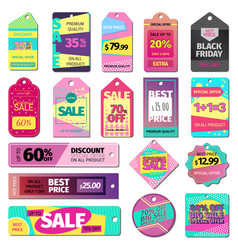 price sale clothes tag modern pattern price card vector image vector image