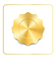 Seal award gold icon vector image