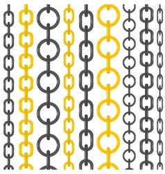 Set of different chains vector