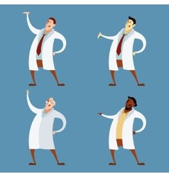 Set of doctors vector image