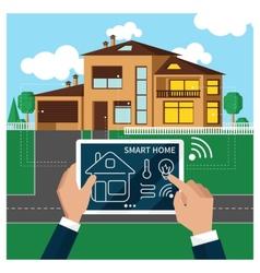 smart home vector image