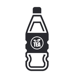 tea bottle vector image vector image