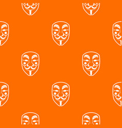 vendetta mask pattern seamless vector image