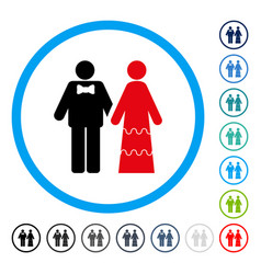 wedding persons rounded icon vector image