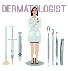 Woman dermatologist image vector