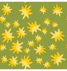 Yellow blot cartoon seamless pattern 616 vector image