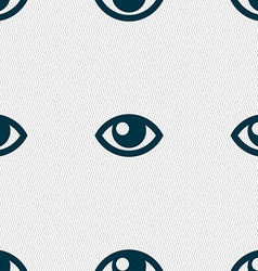 Eye sign seamless pattern with geometric texture vector