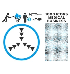 Inside direction icon with 1000 medical business vector