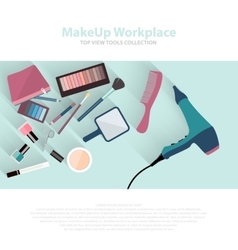 Beauty and makeup cosmetics pattern with make up vector