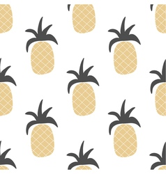 hand drawn pineapple seamless pattern in ethnic vector image