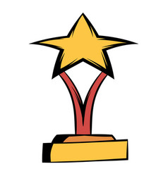 Star award icon cartoon vector