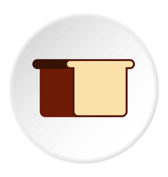 Toast bread icon flat style vector