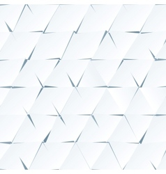White paper cutout triangles background vector