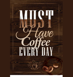 Poster grain coffee 2 vector