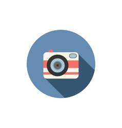 Camera icon Long shadow design vector image